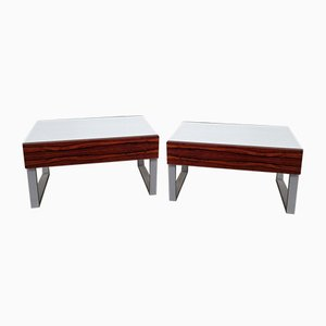 Palissander & Melamine Nightstands from Interlübke, 1970s, Set of 2