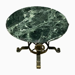 Coffee Table with Sea Green Marble Top, 1940s