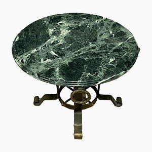 Couchtisch mit Meeresgrüner Marmorplatte, 1940er