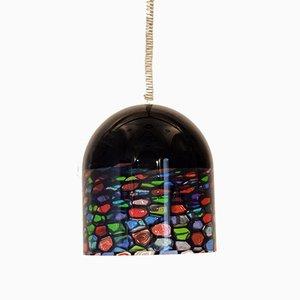 Murano Glass Ceiling Lamp by Noti Massari for Leucos, 1970s