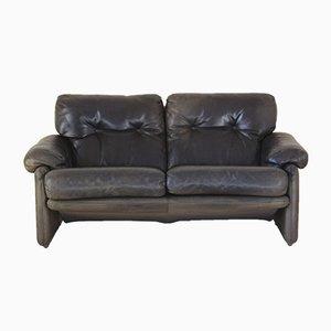 Italian Brown Leather Coronado Sofa by Tobia & Afra Scarpa for B&B Italia / C&B Italia, 1980s