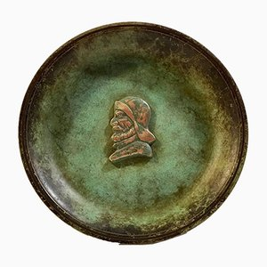 Art Deco Verdigris Bronze Bowl by J. F. Willumsen for Tura Bronce Ildfast, 1920s