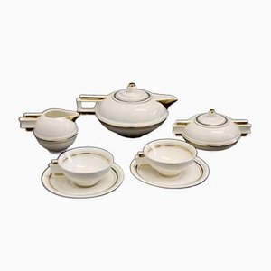 French Art Deco Tableware Set, 1930s, Set of 5
