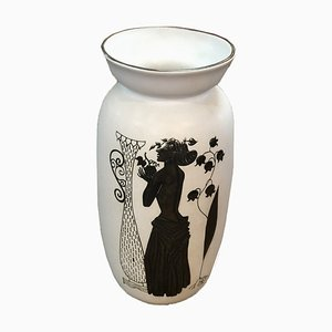 Stoneware Grazia Vase by Stig Lindberg for Gustavsberg, 1950s