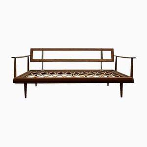 Sofá cama Daybed de teca de Wilhelm Knoll para Walter Knoll / Wilhelm Knoll, años 50