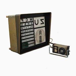 Vintage Optometric Light Box, 1940s