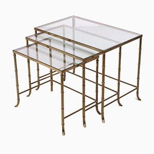 Nesting Tables from Maison Jansen, 1940s, Set of 3