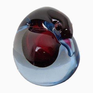 Italian Murano Glass Swan Paperweight from Murano, 1960s