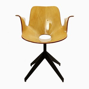 Medea Desk Chair with Swivel Base by Vittorio Nobili for Fratelli Tagliabue, 1950s