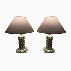 Ceramic Table Lamps by Julio Fernández for Lladro, 1970s, Set of 2
