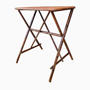 English Bamboo Side Table, 1920s