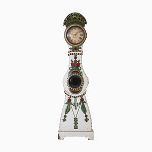 Antique Swedish Bridal Mora Clock, 1830s