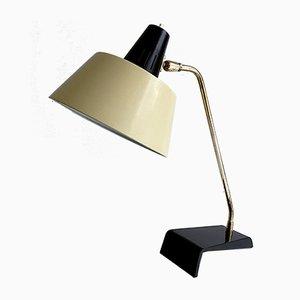Lampe de Bureau Mid-Century en Laiton Noir et Jaune de Kaiser, 1950s