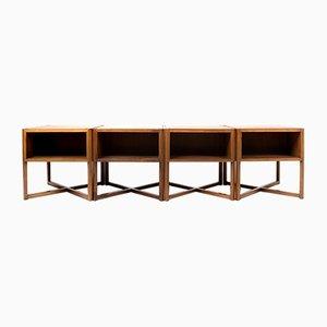 Italian Modular Coffee Tables by Luigi Vaghi for Alfredo Borghi Cantù, 1960s, Set of 4