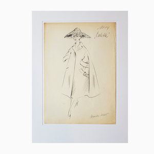 Gerd Hartung, Fashion Drawing, 1950s, Pencil on Paper