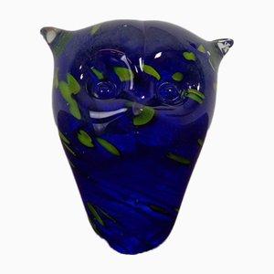 Italian Murano Glass Owl Paperweight from Murano, 1960s