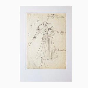 Gerd Hartung, Modezeichnung, 1950er, Bleistift auf Papier
