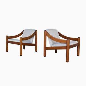 Mid-Century Model 930 Carimate Lounge Chairs by Vico Magistretti for Cassina, Set of 2