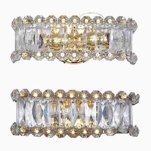 Applique in cristallo di piombo di Bakalowits & Söhne, anni '60, set di 2
