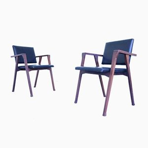 Mid-Century Model Luisa Rosewood Dining Chairs by Franco Albini for Poggi, Set of 2