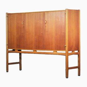 Teak, Brass and Beech Cabinet by David Rosén for Nordiska Kompaniet, 1960s