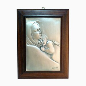 Silver Madonna and Child Engraving from Ottaviani, 1960s