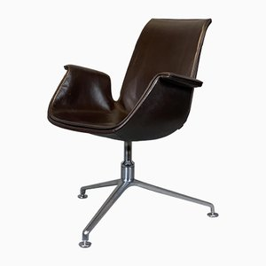 Mid-Century FK 6725 Leather Swivel Chair by Preben Fabricius & Jørgen Kastholm for Walter Knoll / Wilhelm Knoll