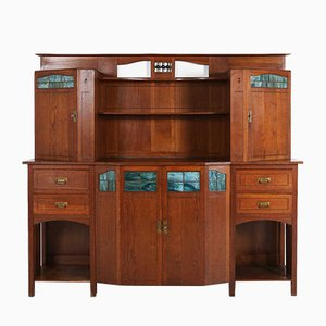 Art Deco Wood and Glass Cupboard, 1930s