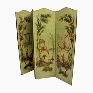 English Hand-Painted Chinoiserie Screen