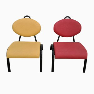 Fireside Lounge Chairs, 1980s, Set of 2