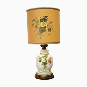 Vintage Italian Hand Painted Ceramic Table Lamp, 1980s