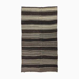 Black Gray Vintage Turkish Kilim Rug, 1960s