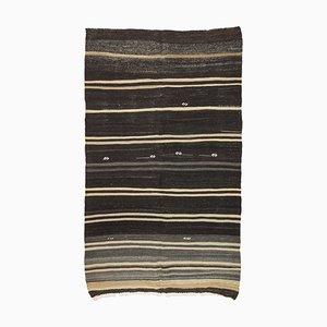 Minimalist Mid-20th Century Striped Turkish Kilim Rug, 1960s