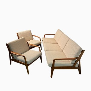 Modular Sofa by Arne Vodder for Vamø, 1960s, Set of 3