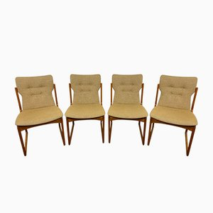 Chaises en Teck de Vamdrup, Danemark, 1960s, Set de 4