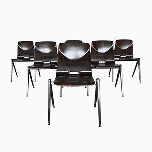 Chaise de Bureau Empilable Modèle S22 par Elmar Flötotto pour Pagholz Flötotto, 1970s