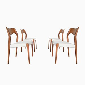 Model 71 Dining Chairs by Niels Otto Møller for J.L. Møllers, 1951, Set of 4