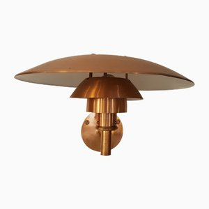 Copper PH 4-5/3 Sconce by Poul Henningsen for Louis Poulsen, 1980s