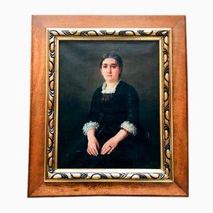 Portrait - Öl auf Leinwand - Französische Schule - 19. Jahrhundert