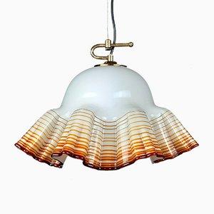 Italian Murano Glass Ceiling Lamp from De Majo, 1970s