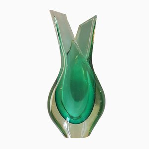 Murano Sommerso Glass Vase, 1950s