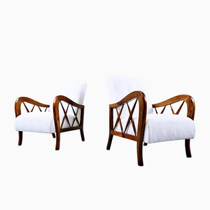 Italian Armchairs in the style of Paolo Buffa, 1950s, Set of 2