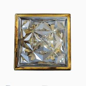 Quadratische Wandlampe, 1970er