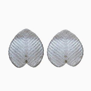 Leaf-Shaped Sconces, 1960s, Set of 2