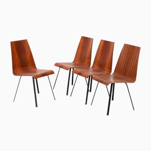 Scandinavian Hardwood Dining Chairs from Glyngøre, 1960s, Set of 4