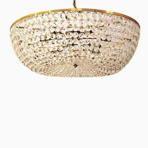 Classical Basket Cut Crystal Chandelier from Bakalowits & Söhne, 1960s