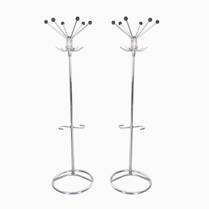 Chrome Standing Coat Racks, 1960s, Set of 2