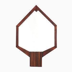 Mahogany Art Deco Wall Mirror, 1920s