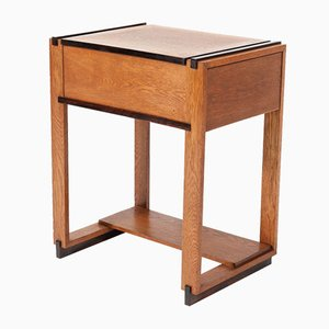 Oak Art Deco Sewing Table by Piet Izeren for De Genneper Molen, 1920s