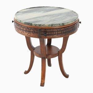 Oak Art Deco Coffee Table by T. Woonhuys, 1920s